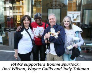 PAWS supporters Bonnie Spurlock Dori Wilson Wayne Gallis and Judy Tullman