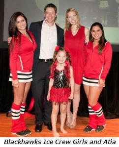 Blackhawks Ice Crew girls and Atia