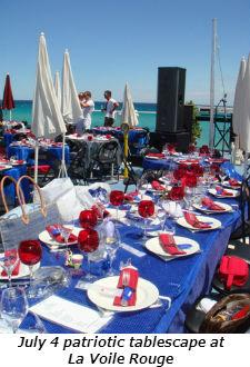 July 4 patriotic tablescape at La Voile Rouge