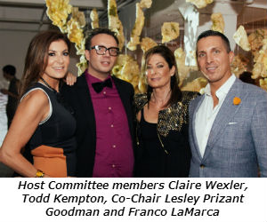 Host Committee members Claire Wexler Todd Kempton Co-Chair Lesley Prizant Goodman and Franco LaMarca