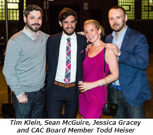 Tim Klein Sean McGuire Jessica Gracey and CAC Board Member Todd Heiser