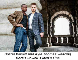 Borris Powell and Kyle Thomas wearing Borris Powell's Men's Line