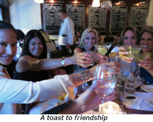 A toast to friendship