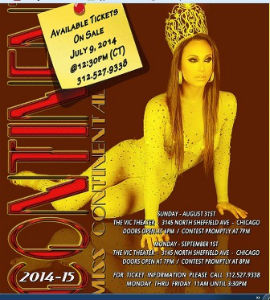 Miss Continental Pageant invite 2014