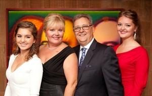 Gala co-chairs Anna and Robert Livingston with daughters Kristen and Kendall