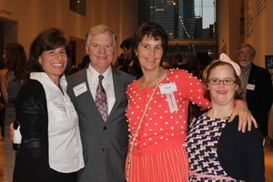 Dan Walsh, Walsh Construction Group, with daughters Renee and Amy and friend Molly.