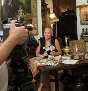 """Taping at our apt. for the """"Behind the Scenes"""" show"""