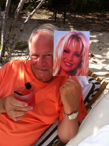 Chuck and Pam poolside