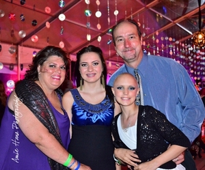 The Roberson family with RMHC Ambassador Samantha (front R)