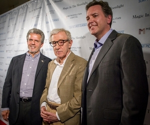 Executive Producer Ron Chez, Writer and Director Woody Allen and Michael Rose, Chairman & CEO, Metropolitan Capital (Chicago)