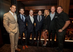 Bill, Jerrod, Rich and RJ Melman, Giuliana, Chris Meers and Chef Doug Psaltis