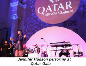 Jennifer Hudson performs at Qatar Gala