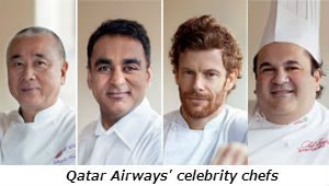 Qatar Airways celebrity chefs