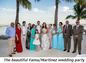 The beautiful FamaMartinez wedding party