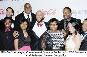Magic and Common at last year's event with cute Camp kids.