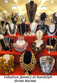 Fabulous jewelry at Randolph Street Market