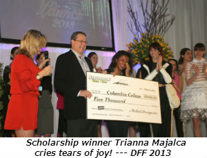 Scholarship winner Trianna Majalca cries tears of joy!