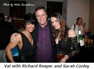 Val with Richard Roeper and Sarah Cooley
