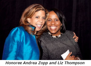 Honoree Andrea Zopp and Liz Thompson