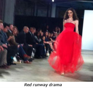 Red runway drama