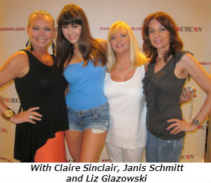 With Claire Sinclair Janis Schmitt and Liz Glazowski