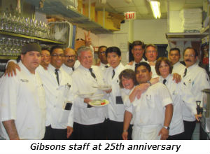 Gibsons staff at 25th anniversary