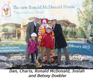 Dan Charis Ronald McDonald Josiah and Betsey Doebler