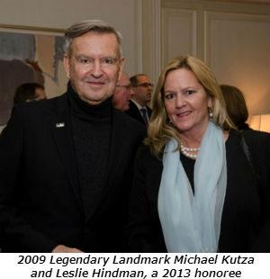 2009 Legendary Landmark Michael Kutza and Leslie Hindman a 2013 honoree