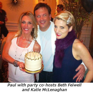 Paul with party co-hosts Beth Feiwell and Katie McLenaghan