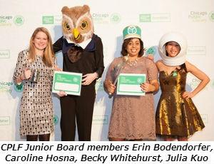 CPLF Junior Board members Erin Bodendorfer, Caroline Hosna, Becky Whitehurst, Julia Kuo