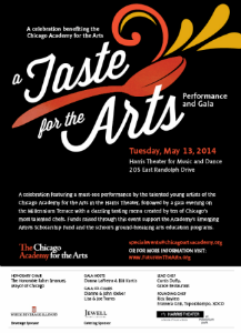 Taste for the Arts invite