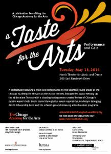 Taste for the Arts invite