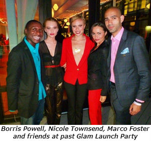 Borris Powell Nicole Townsend and Marco Foster at past Glam Launch Party