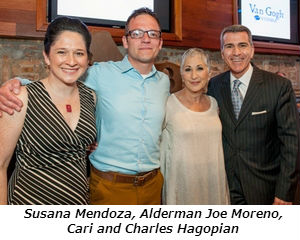 Susana Mendoza, Alderman Joe Moreno, Cari Meyers and Charles Hagopian
