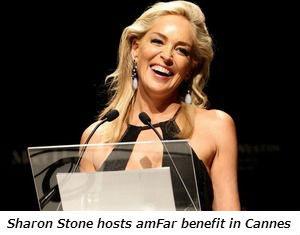Sharon Stone hosts amFar benefit in Cannes