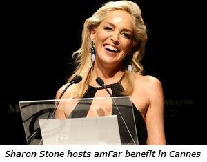Sharon Stone hosts amFar benefit in Cannes