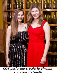COT evening performers Valerie Vinzant and Cassidy Smith - Photo Credit David Turner Photography