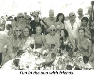 Fun in the sun with friends