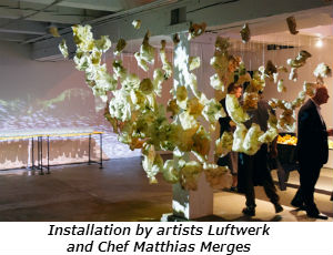 Installation by artists Luftwerk and Chef Matthias Merges