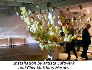 Installation by artists Luftwerk and Chef Matthias Merges