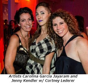Artists Carolina Garcia Jayaram and Jenny Kendler w Cortney Lederer