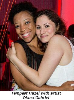 Tempest Hazel with artist Diana Gabriel