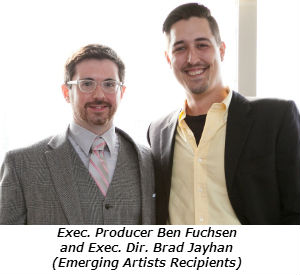 Executive Producer Ben Fuchsen and Executive Director Brad Jayhan-Little of Oracle Productions recipients of the Emerging Theatre Award