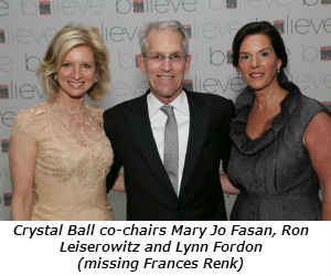 Crystal Ball co-chairs Mary Jo Fasan Ron Leiserowitz and Lynn Fordon missing Frances Renk
