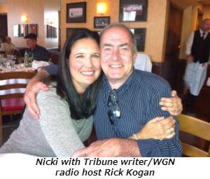 Nicki with Tribune writerWGN radio host Rick Kogan