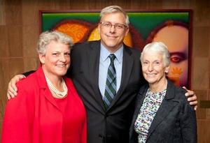 Co-chairs Robin and Steve Solomon with Sheli Z. Rosenberg.