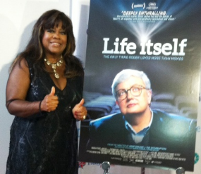"Chaz Ebert at Chicago premiere of ""Life Itself"""