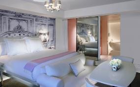 Villa bedroom at SLS South Beach