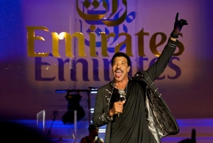 Lionel Richie performs at Emirates gala (Pic by Matthew Reeves)