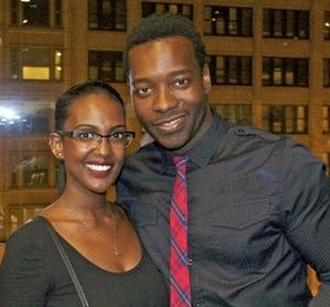 Sarah Testfai and Lonnie Edwards